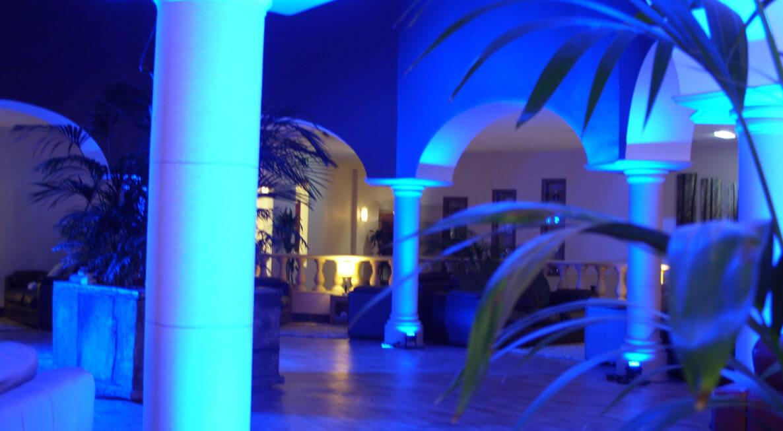 LED Uplighting at Hoar Cross Hall