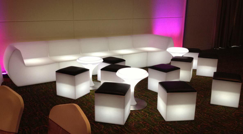 Illuminated Furniture Hire