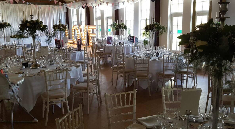 Brooksby Hall Wedding Decor