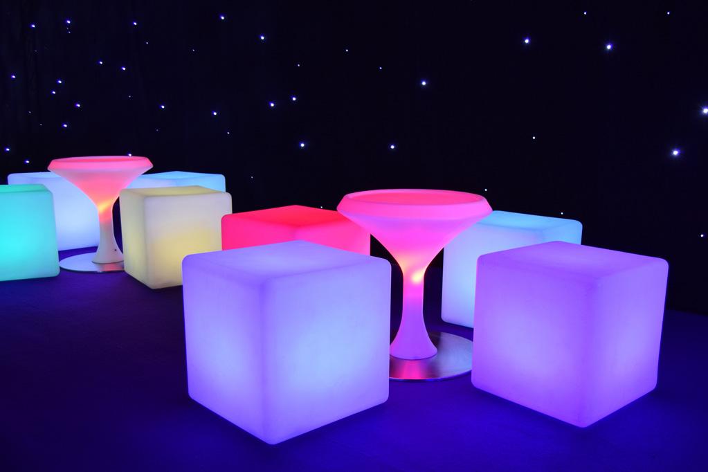LED lluminated Furniture Hire