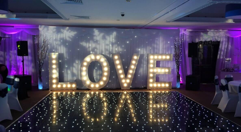 LOVE Letters Hire UK