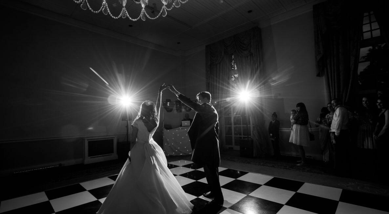 Black & White Cheque Dance Floor Hire in Derby