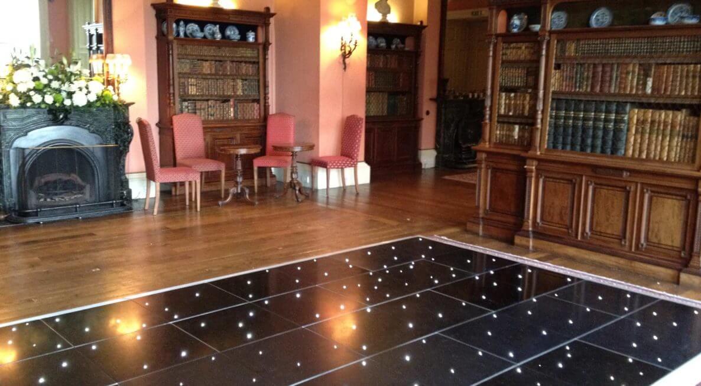 Starlit Dance Floor Hire at Prestwold Hall