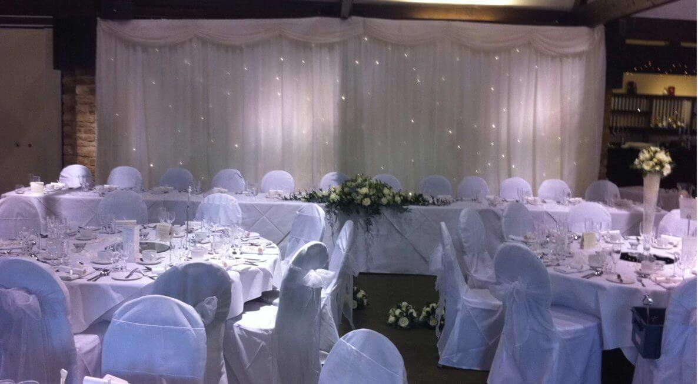 Haycock Hotel Wedding Top Table Backdrop