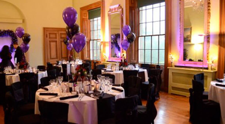 Kelmarsh Hall Wedding LED Uplighting