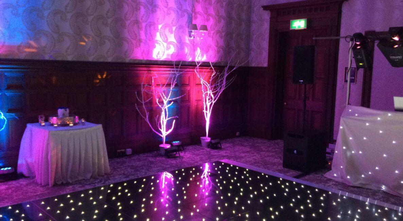 Wedding Lighting in Burton at Mecure Newton Park Hotel
