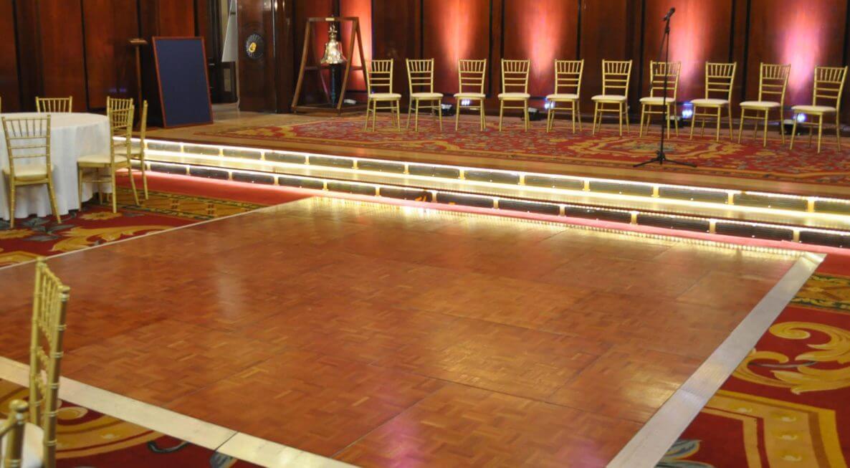 Parquet Dancefloor hire in Leicester