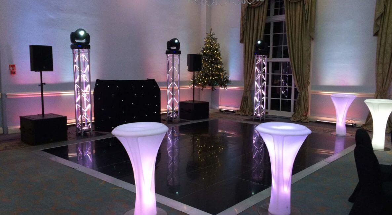 Black dance floor hire in Leicester