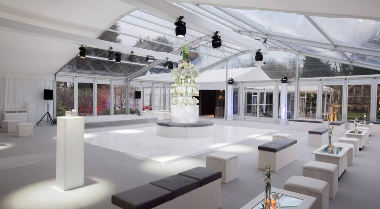 White Wedding Dance Floor Hire in Derby