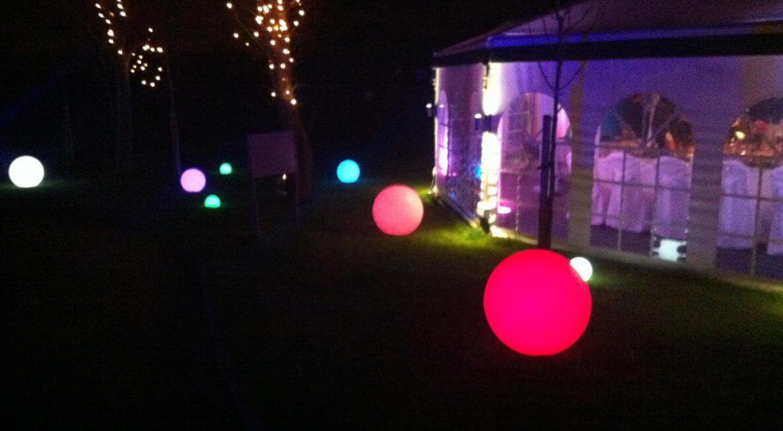 LED Balls / Spheres at Shearsby Bath