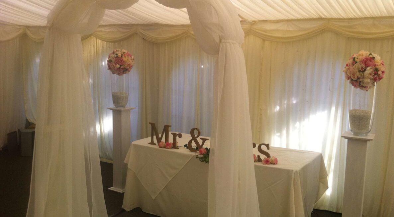Wedding Decor Hire at Shearsby Bath