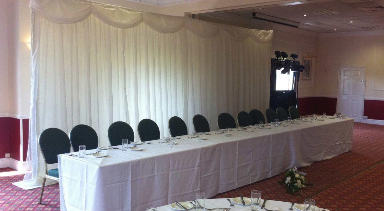 Holiday Inn Wedding Backdrop Hire