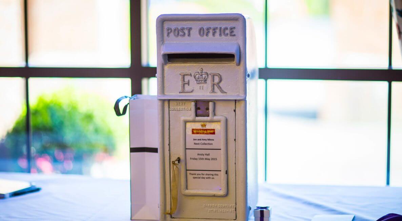 Ansty Hall Wedding Post Box Hire