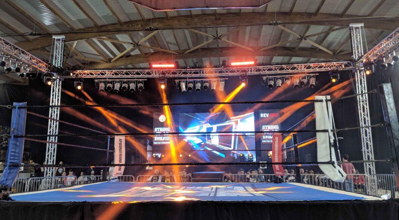 Beam Lighting at Wrestling Show
