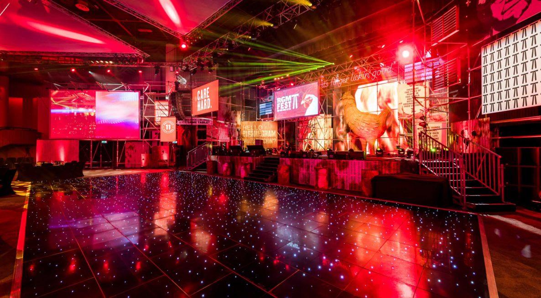 Black Starlit Dancefloor Hire ICC